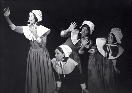 a description of the girls of salem in the american play the crucible In salem, massachusetts in 1692, puritan minister reverend parris finds a group of girls dancing naked in the forest among them are his niece abigail and daughter better, who faints upon being.